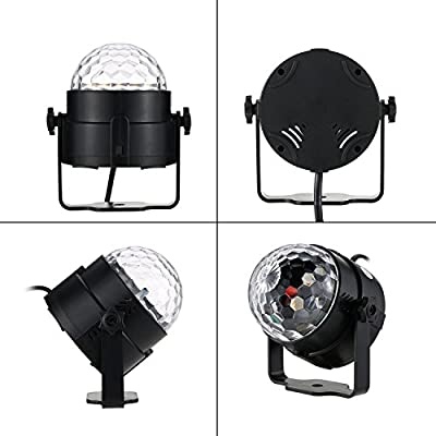Party lights Disco Ball LED Strobe Lights Sound Activated, RBG Disco lights,dj lights,Portable 7 Modes Stage Light for Home Room Dance Parties Birthday Bar Karaoke Xmas Wedding Show Club(2 pack) by WINSAFE