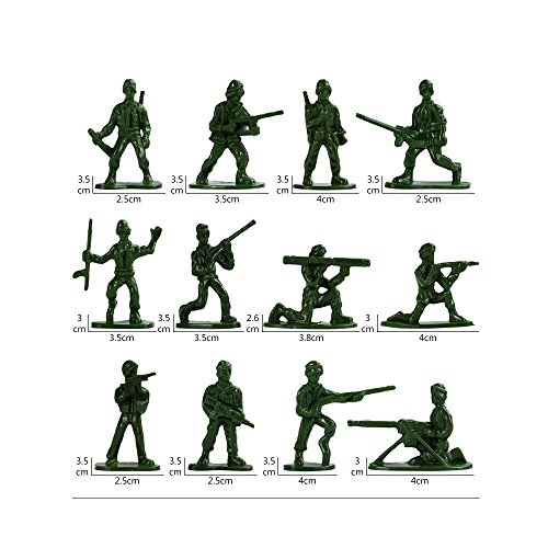 Army Men Play Bucket Soldier of WW2 Over 300 Piece Set Soldiers Action Figures
