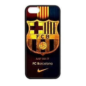 Retro FC Barcelona Apple Iphone 5S/5 Case Cover TPU Laser Technology Futbol Club Barce