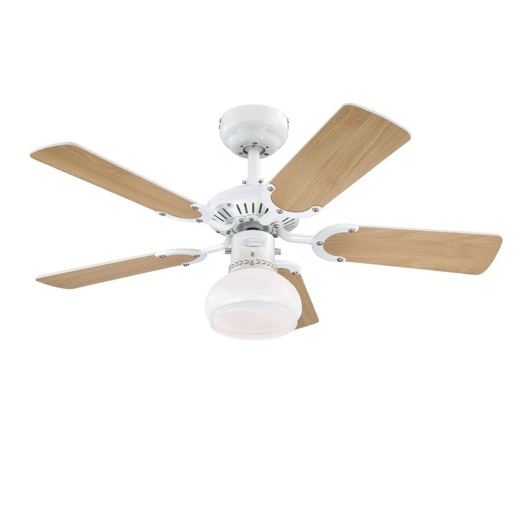 Blanc M/étal Westinghouse 7870440 Ventilateur de Plafond d/'Int/érieur Kit d/'Eclairage