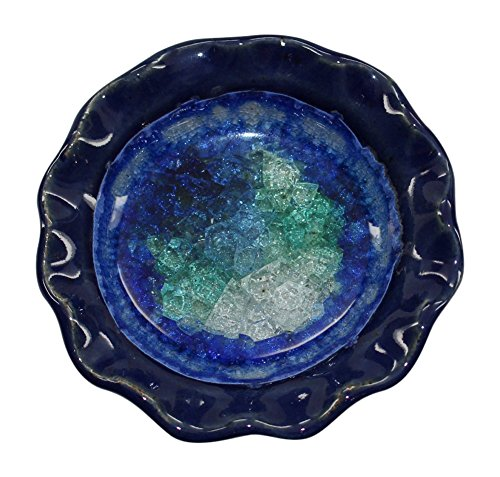 Down To Earth Pottery Pretty Little Dish Votive Holder (Dark Blue) from Down To Earth Pottery