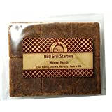 Midwest Hearth 100% Natural Charcoal Starters for BBQ Grill and Barbecue Smokers (48 Squares)