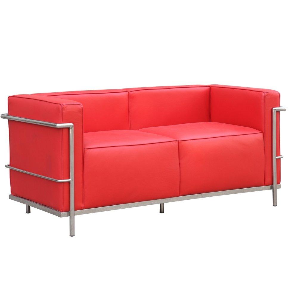Fine Mod Imports FMI2203-red Grand Lc3 Loveseat, Red