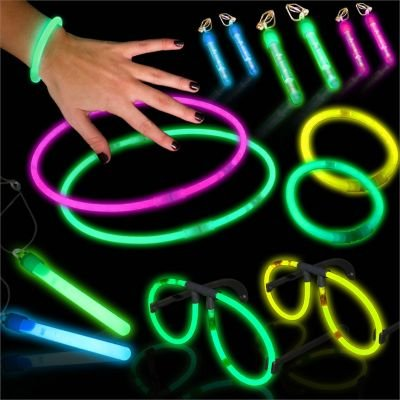 [Glow in the Dark Neon Party Mega Pack Glow Sticks - 56 pieces Retail Kit] (Neon Party Outfits)