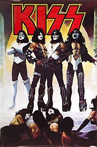 Buyartforless Kiss Love Gun 36x24 Music Art Print Poster Hard Rock Heavy Metal 6th Studio Album 1977
