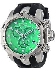 Invicta Mens 6105 Venom Reserve Chronograph Green Dial Black Polyurethane Watch