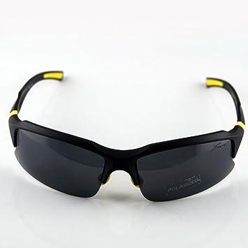 Excelente cómodo UV400 polarizado ahumado irrompibles PC lente gafas de sol para Golf Correr Ciclismo Pesca