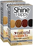 Clairol Natural Instincts Shine Happy Clear Hair Color Treatment, 2 pk
