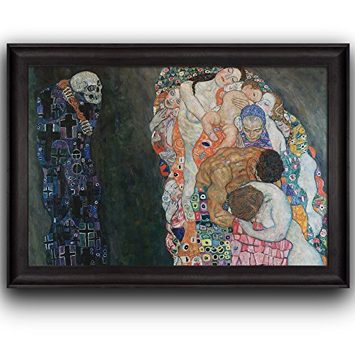 Death and Life by Gustav Klimt Framed Art