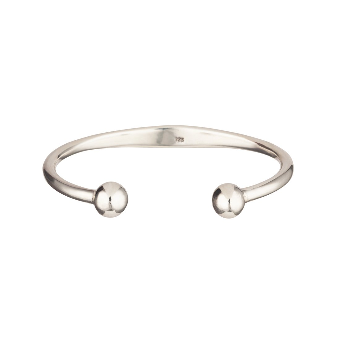 Silverly Mens Womens 925 .Sterling Silver Solid Identity Torque Bangle Bracelet