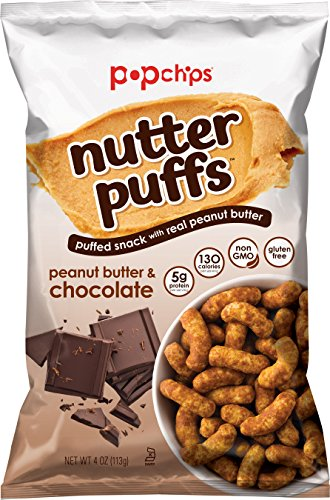 (Popchips Nutter Puffs Peanut Butter & Chocolate 4 oz Bags (Pack of 5))