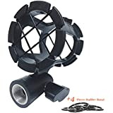 Eggsnow Microphone Shock Mount Clip Universal Mic Holder Stand Anti Vibration for AKG D230 Senheisser ME66 Rode NTG-2 NTG-1 Audio-Technica AT-875R