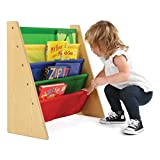 Tot Tutors Kids Book Rack Storage Bookshelf, Natural/Primary (Primary Collection)