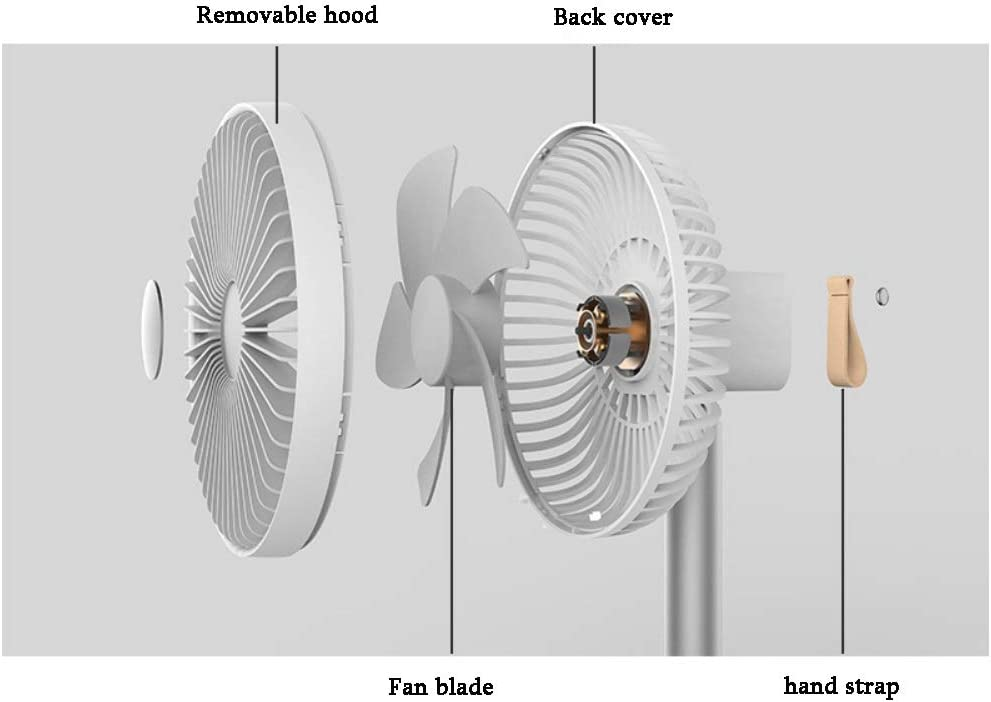 Color : Dark Blue HU Simple and Fashionable Desktop Automatic Shaking Head Fan USB Charging air Conditioning Room