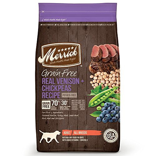 Merrick Grain Free Real Venison & Chickpeas Recipe Dry Dog Food, 22 lbs.