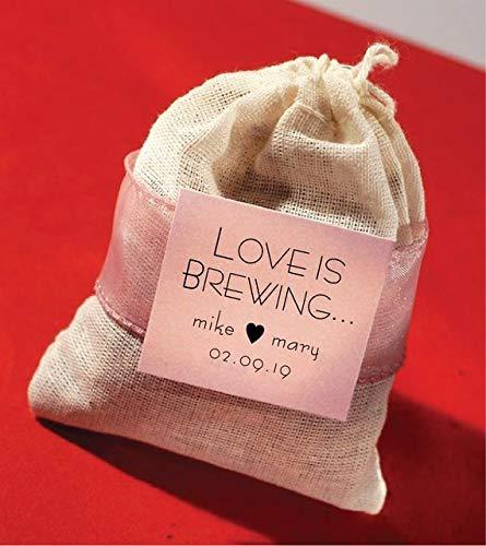 Amazon Com Diy Love Is Brewing Tea Bag Wedding Favors With Custom