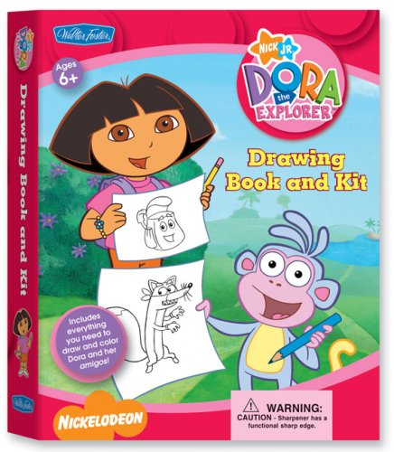 Dora the Explorer Drawing Book & Kit: Includes Everything You Need to Draw and Color Dora and Her Amigos! (Nick Jr. Drawing Book & Kits)
