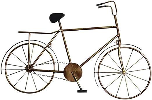 QBZS-YJ Hierro Vintage Viento Industrial Bicicleta Pared ...