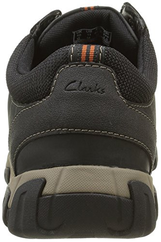 Clarks Walbeck Edge 261219237 - Zapatillas para hombre Negro (Black Weather Proof Lea)