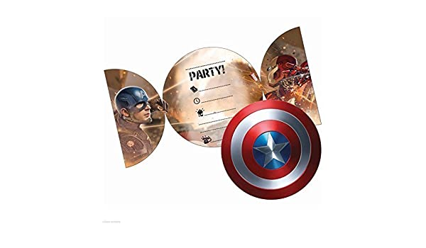 Captain America Civil War Party Invitations, Pack of 6 by Unique ...