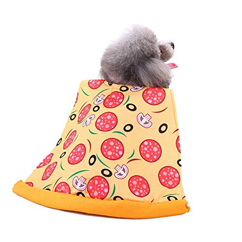 ETHELDING Pet Dog Cat Pizza Slice Pet Suit Costumes Pet Dress Up Dog Clothes Puupy Shawl Cute Cartoon -