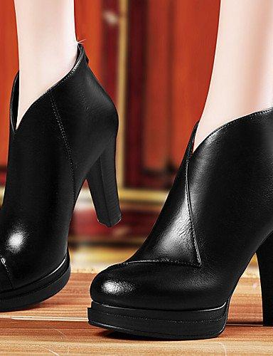 n tac ¨ tacones noche vestido ® Fiesta ZQ 36 Scarpe semicuero di cono mujer EU negro Rosso tacones pqYAxRUxwn