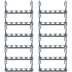 Wonder Hanger Max NEW & IMPROVED, Pack of 12 - 3x the Closet Space for Easy, Effortless, Wrinkle-free Clothes, Comes Fully Assembled, Grey