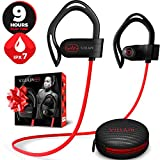 [2020 Edition] Villain Wireless Workout Bluetooth Headphones for Running and Gym - Best Sport Earbuds for Men & Women - Waterproof IPX7 Sports Earphones - Noise Cancelling Headset for iPhone & Android