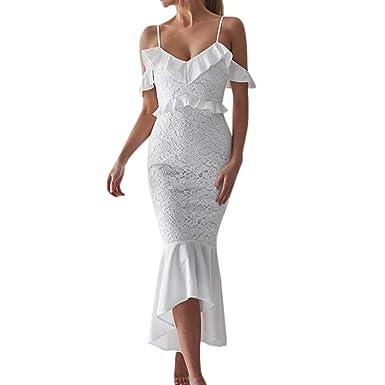 118ae344998cff Robe élégante ADESHOP Mode Femmes Sexy Dentelle Hors ÉPaule À ...