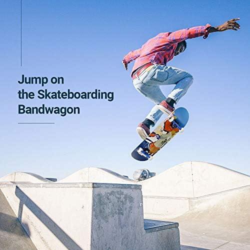 Jeunes et Adultes avec des roulements /à Billes ABEC-11 CLYCTIP Planche /à roulettes Skateboard pour Les Enfants Roue de Flash,92A Anti-d/érapant Lisse,muet funboard de Roue pour Les d/ébutants