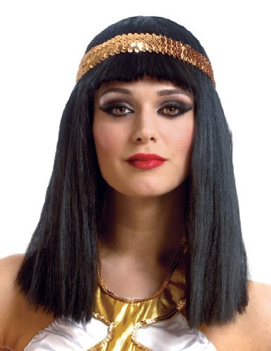 [Egyptian Cleopatra Wig with Headband] (Girls Cinderella Costumes Wig)