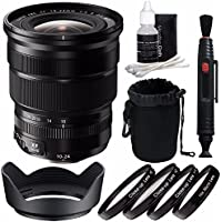 Fujifilm XF 10-24mm f/4 R OIS Lens + 72mm +1 +2 +4 +10 Close-Up Macro Filter Set with Pouch Bundle 4