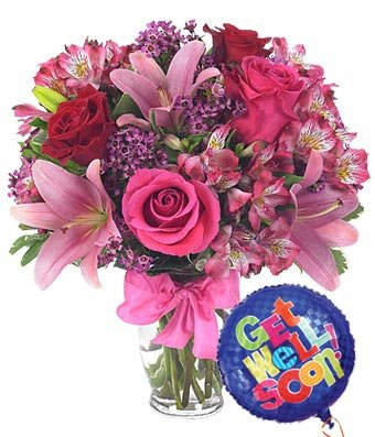 Get Well Balloon Bouquets (Pick-Me-Up Get Well Soon - Same Day Get Well Soon Flowers Delivery - Get Well Soon Flowers - Get Well Bouquet - Sympathy Flowers - Get Well Soon Presents)