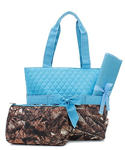Blue Camouflage Diaper Bag - 1