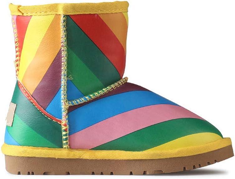 YUBUKE Toddler//Little Kid//Big Kid Nordic Knee High Winter Snow Boots Warm Boots