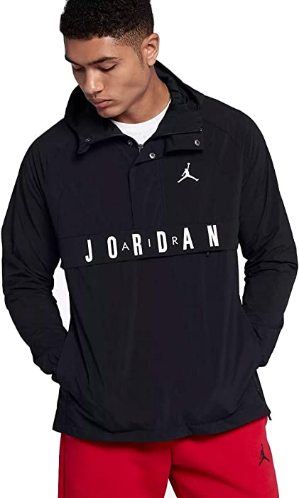 0a453d52c Nike Air Jordan Wings Anorak Pullover Wind Jacket Size XL Black at ...