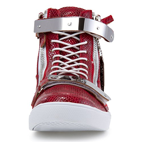 Jump Strap High Up Round Zion Lace Top Sneaker Metallic J75 Men's Toe Red rqpBwrZ