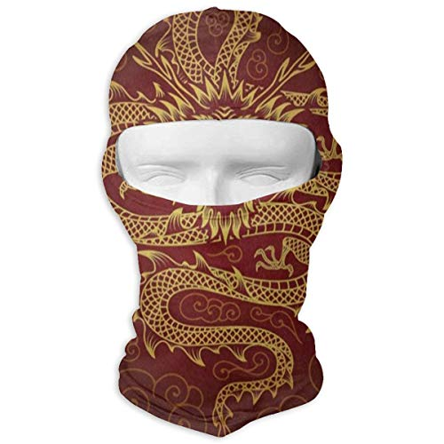 Balaclava Vintage Chinese Dragon Fire Full Face Masks Ski Sports Cap Motorcycle Neck Hood (Driver Headcover Dragon)