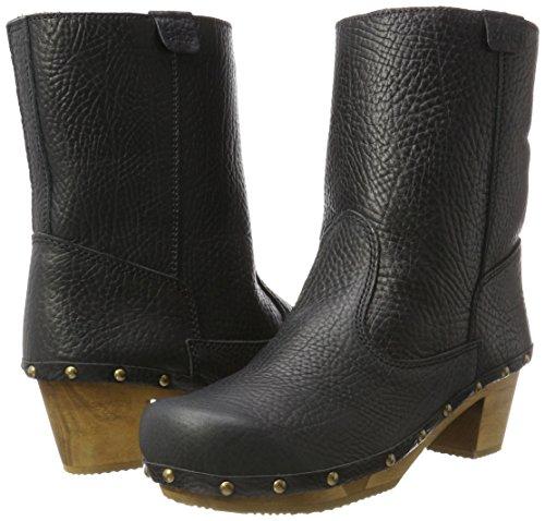 Boot Pia Ankle 2 Schwarz Black Flex Women''s Block black Sanita 4SnwxqI5v