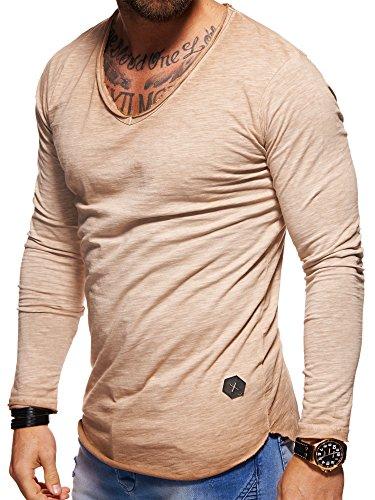 hommes manches en pour Beige longues et v col longues à à Tee manches Behype 30 shirt 3741 à w0Pqx6