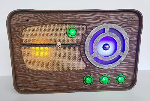 (12 Inch Halloween Spooky Radio with Lights and Radio Themed Halloween Bulletins and)