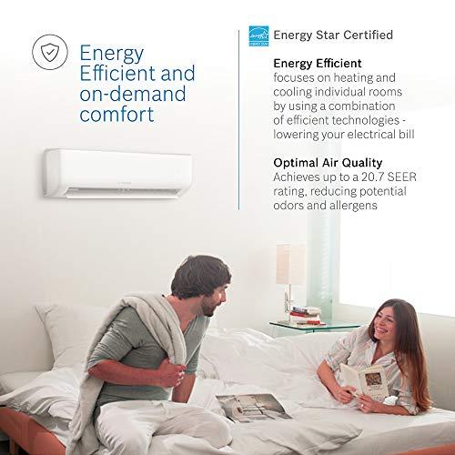 Bosch Ultra-Quiet 12K BTU 230V Mini Split Air Conditioner & Cooling System with Inverter Heat Pump, 20.7 SEER High-Efficiency – 7 yr. ltd. Warranty and Energy Star Certified