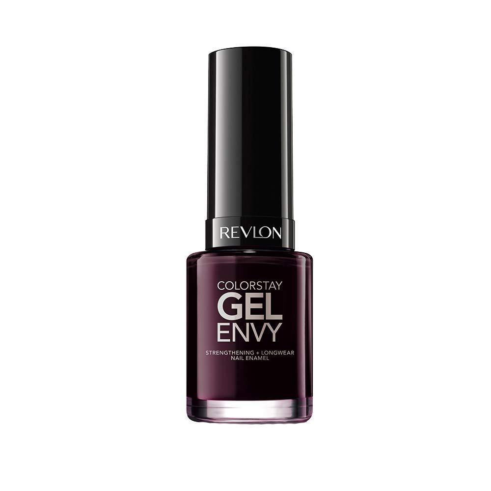 Revlon ColorStay Gel Envy Longwear Nail Polish, with Built-in Base Coat & Glossy Shine Finish, in Plum/Berry, 610 Heartbreaker, 0.4 oz