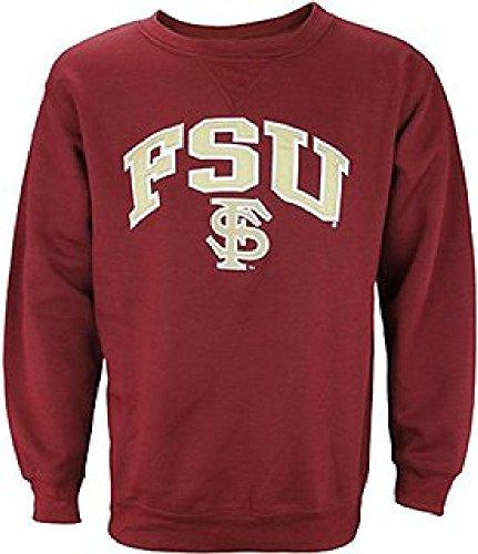 Genuine Stuff Florida State Seminoles Garnet Embroidered Gameday Crew Sweatshirt (X-Large) ()