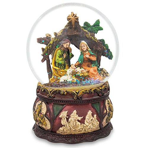 Snowglobe Scene Nativity (BestPysanky Silent Night Music Nativity Scene Snow Globe)