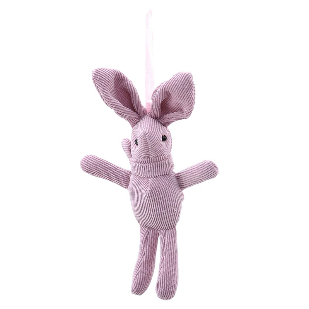 LZIYAN Cartoon Rabbit Shaped Doll Hanging Toy Corduroy Long-Legged Rabbit Stuffed Toys For Children Bag Pendent Ornaments,Pink