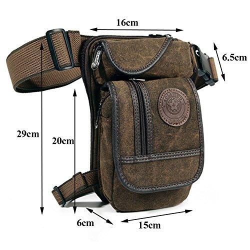 2ecd3b9d6422 Egoodbest Canvas Tactical Military Waist Pack Pouch Outdoor Multi ...