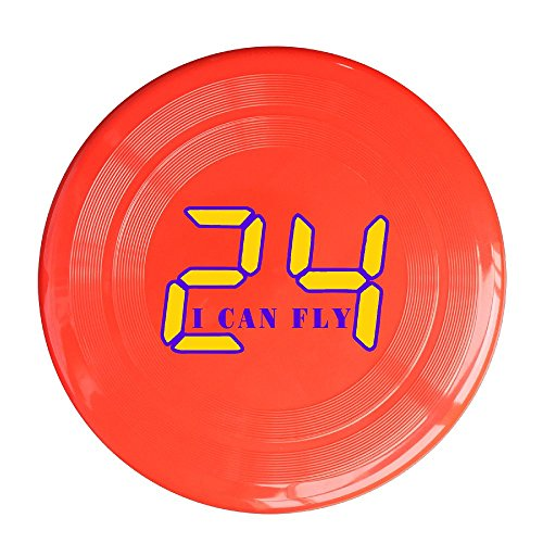 LINNA Unisex I Can Fly #24 Basketball Player Outdoor Game, Sport, Flying Discs,Game Room, Light Up Flying, Sport Disc ,Flyer Frisbee,Ultra Star Red One (Big Star Mini Skirt)