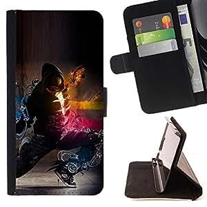 Jordan Colourful Shop - dark super fantasy fighter samurai For Apple Iphone 4 / 4S - Leather Case Absorci???¡¯???€????€????????