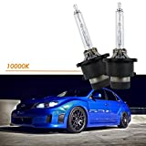 Xotic Tech D4S D4C D4R 10000K Xenon Bright HID OEM Direct Headlight Low Beam Bulb Replacement, Cool Deep Blue